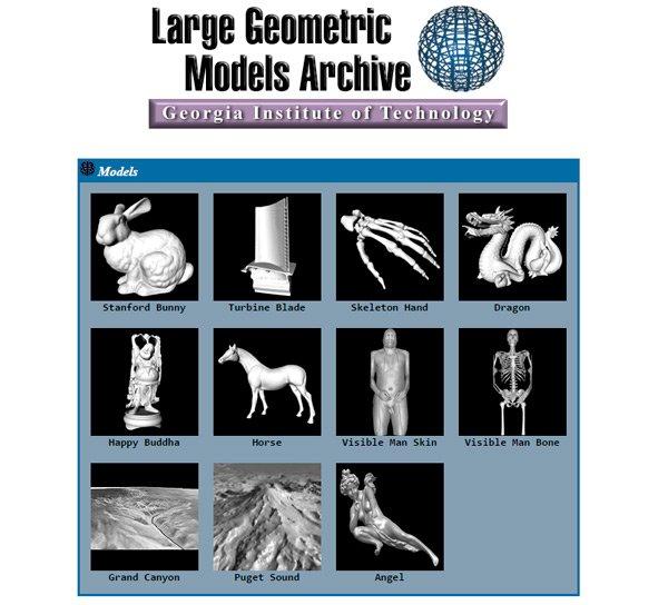 Large Geometric Models Archive   www.cc.gatech.edu/projects/large_models