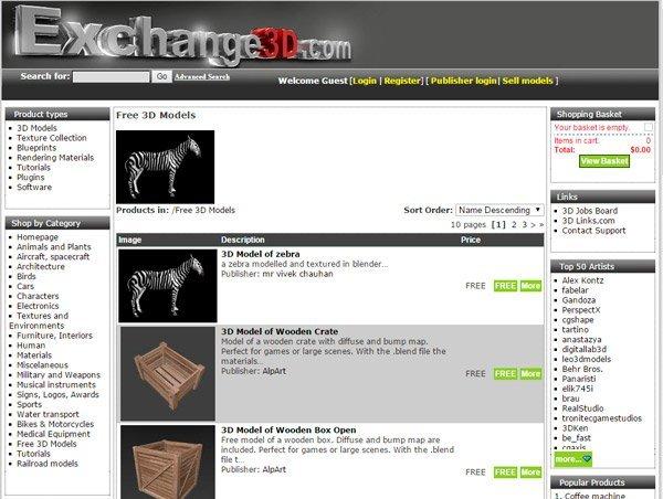 Exchange 3D   www.exchange3d.com