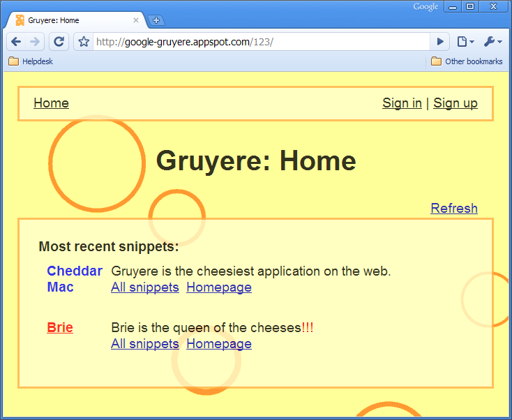 Gruyere | www.google-gruyere.appspot.com