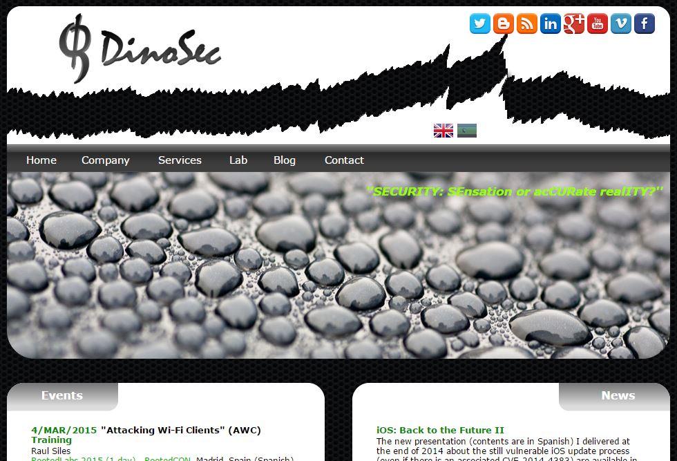 DinoSec |  www.dinosec.com (blog.dinosec.com) @dinosec